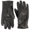 Wrist Snap Black Deerskin Gloves