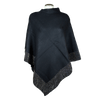 Women's Poncho With Rhinestone Trim