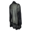 Women's Sheer Rhinstone Sleeved Cardigan