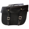 Double Buckle Leather Saddle Bag