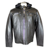 Men's Hooded Leather Motorcycle Jacket