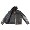 Hooded Leather Cycle Jacket