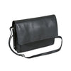 Half Flap Organizer Leather Messenger Bag