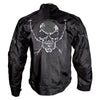 Men's Reflective Skull Textile Motorcycle Jacket