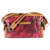 Lace Design Red & Tan Handbag