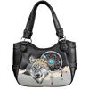 Women's Wolf Embroidered Tote Bag
