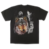 Wolf Design Men's Black T-shirt