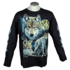Men's Long Sleeve Wolf Graphic T-shirt