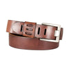 Men's Slotted Distressed Leather Belt