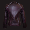 Women's Purple Wash Leather Jacket