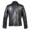 Men's Zip Pocket Leather Jacket