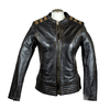 Ladies Racer Style Leather Jacket