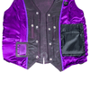 Women's Lace Side Leather Vest