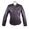 Ladies Purple Wash Leather Jacket