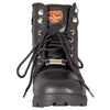 Women's Size Zip Lace Up Motorcycle Boots