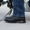 "Men's 6"" Double Zip Lace Up Motorcycle Boots"
