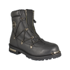 Men's Twin Zipper Cap Toe Motorcycle Boot