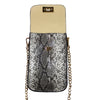 Faux Snakeskin Touchscreen Bag