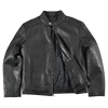 Men's Snap Collar Leather Racer Jacket