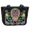 Sugar Skull Embroidered Shoulder Bag