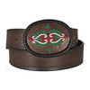 Embroidered Flower Buckle Women's Belt