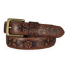 Women's Floral Embossed Leather Belt