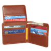 Bi Fold Flap Up Leather Wallet