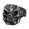 Men's Bite the Bullet Skull Ring