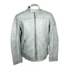 Men's Distressed Leather Racer Jacket