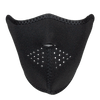 Plain Black Neoprene Half Mask