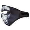 Full Face Black Skull Neoprene Half Mask