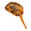 Orange Tribal Skull Cap