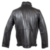 Men's Knit Collar Leather Jacket