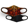 Monarch Butterfly Print & Solid Black 2 Pack Face Masks