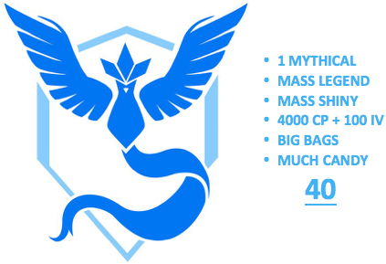 Ultimate Level 40 Team Mystic PoGo Account (INSTANT DELIVERY)