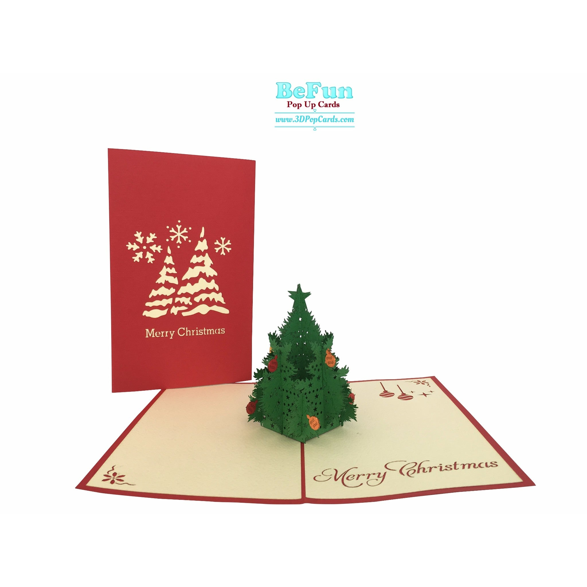 Christmas Pop Up Cards.Christmas Tree Pop Up Cards