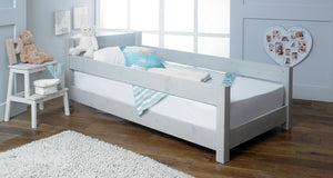 Kids Starter Wooden Bed Frame With Guard Rails
