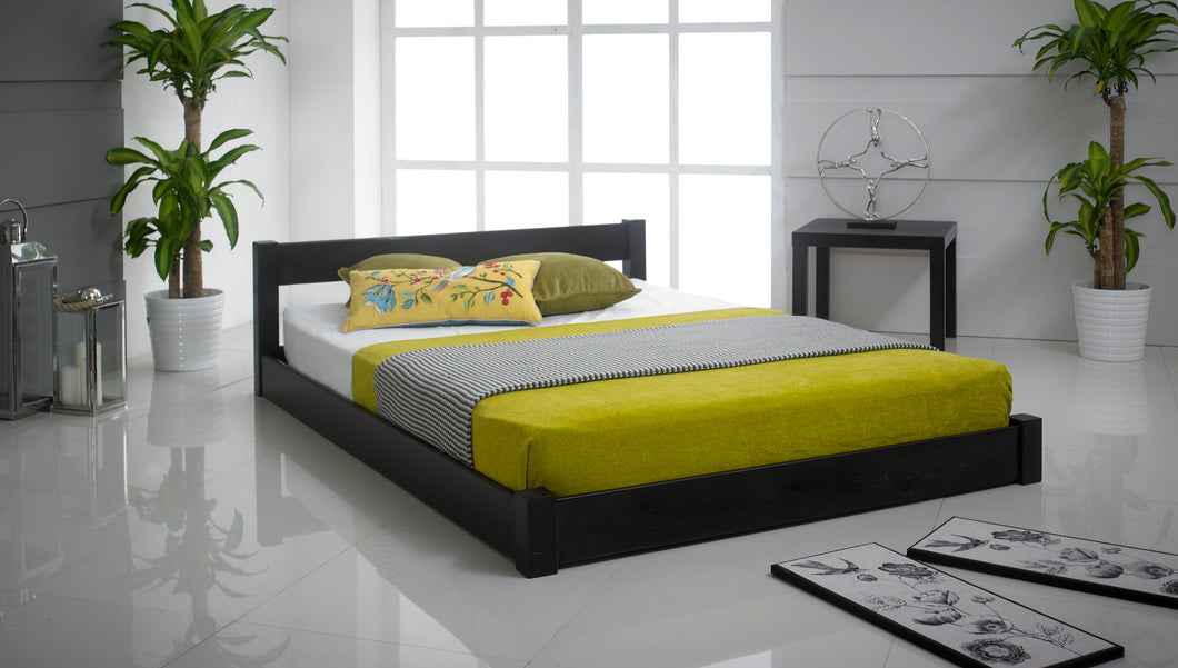 Low Oriental Wooden Bed Frame