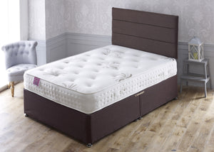 Buckingham Divan Bed Set with Wool and Cotton Mix Sprung Medium/Soft Comfort Mattress - Cheap Beds Direct