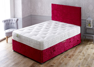 Jubilee Divan Bed Set with 1000 Pocket Sprung Medium/Firm Hand Tufted Mattress - Cheap Beds Direct