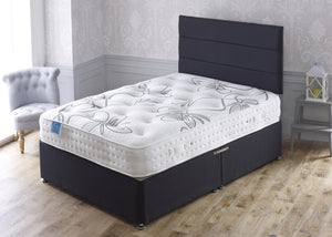 Kensington Divan Bed Set with 1500 Pocket Sprung Latex Medium/Firm Comfort Mattress - Cheap Beds Direct