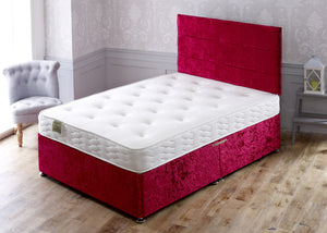 Marathon Divan Bed Set with Memory Foam Sprung Medium Comfort Mattress - Cheap Beds Direct