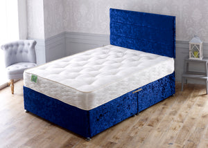 Nike Divan Bed Set with Ortho Double Sided Sprung Medium Comfort Mattress - Cheap Beds Direct