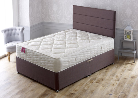 Pegasus Divan Bed Set with Cotton Dual Sprung Deep Firm Comfort Mattress - Cheap Beds Direct