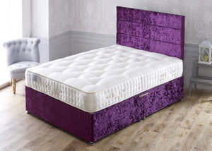 Platinum Intelligent Fibre Divan Bed Set with 5000 Pocket Sprung Medium/Firm Mattress - Cheap Beds Direct