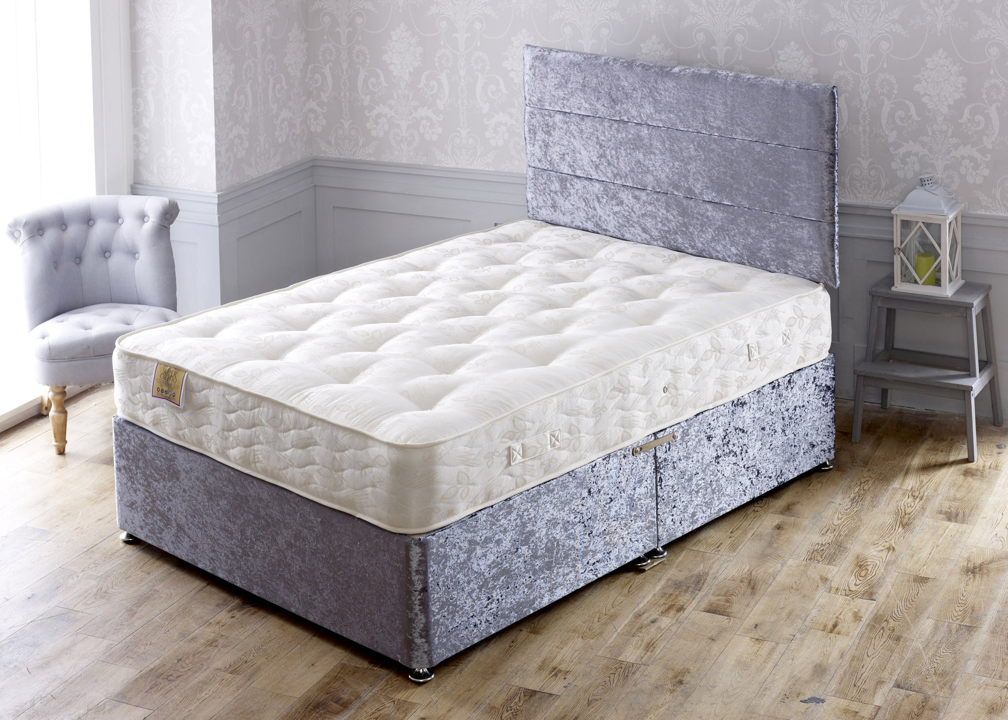 Super Orthopaedic Double Sided Hand Tufted Sprung Divan Set - Cheap Beds Direct