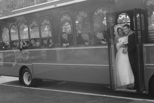 chicago wedding trolley
