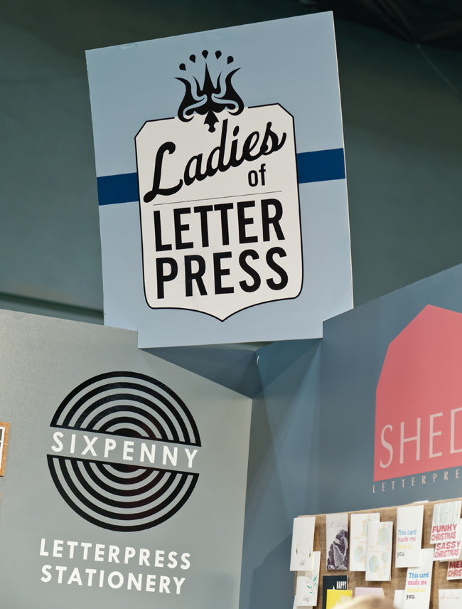 ladies of letterpress booth at nss-2