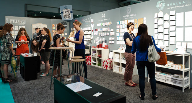 ladies of letterpress booth at nss 2012