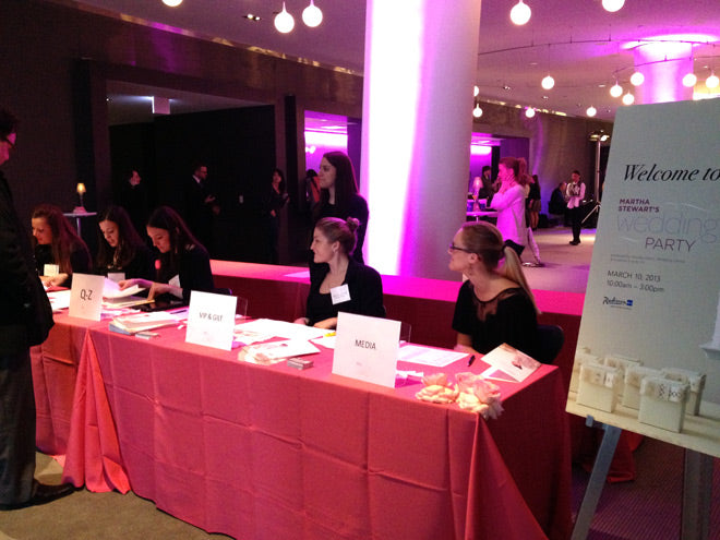 martha stewart wedding party chicago 2013 registration table